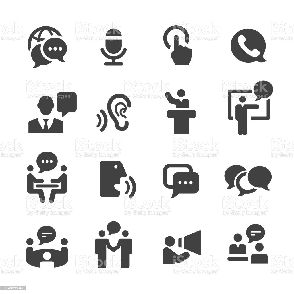 Business Communication Icons - Acme Series Business, Communication, Advice stock vector