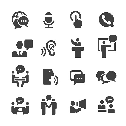 Business Communication Icons Acme Series Stock Illustration - Download Image Now