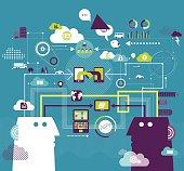 Vector illustration - Business communication