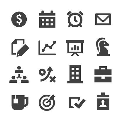 Business Icons Set - Minimal Series