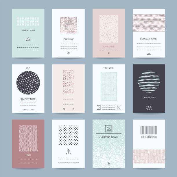 Visitenkarten, Firma Vorlagen Sammlung – Vektorgrafik