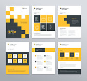 Template Layoutdesign Mit Deckblatt Für Firmenprofil ...