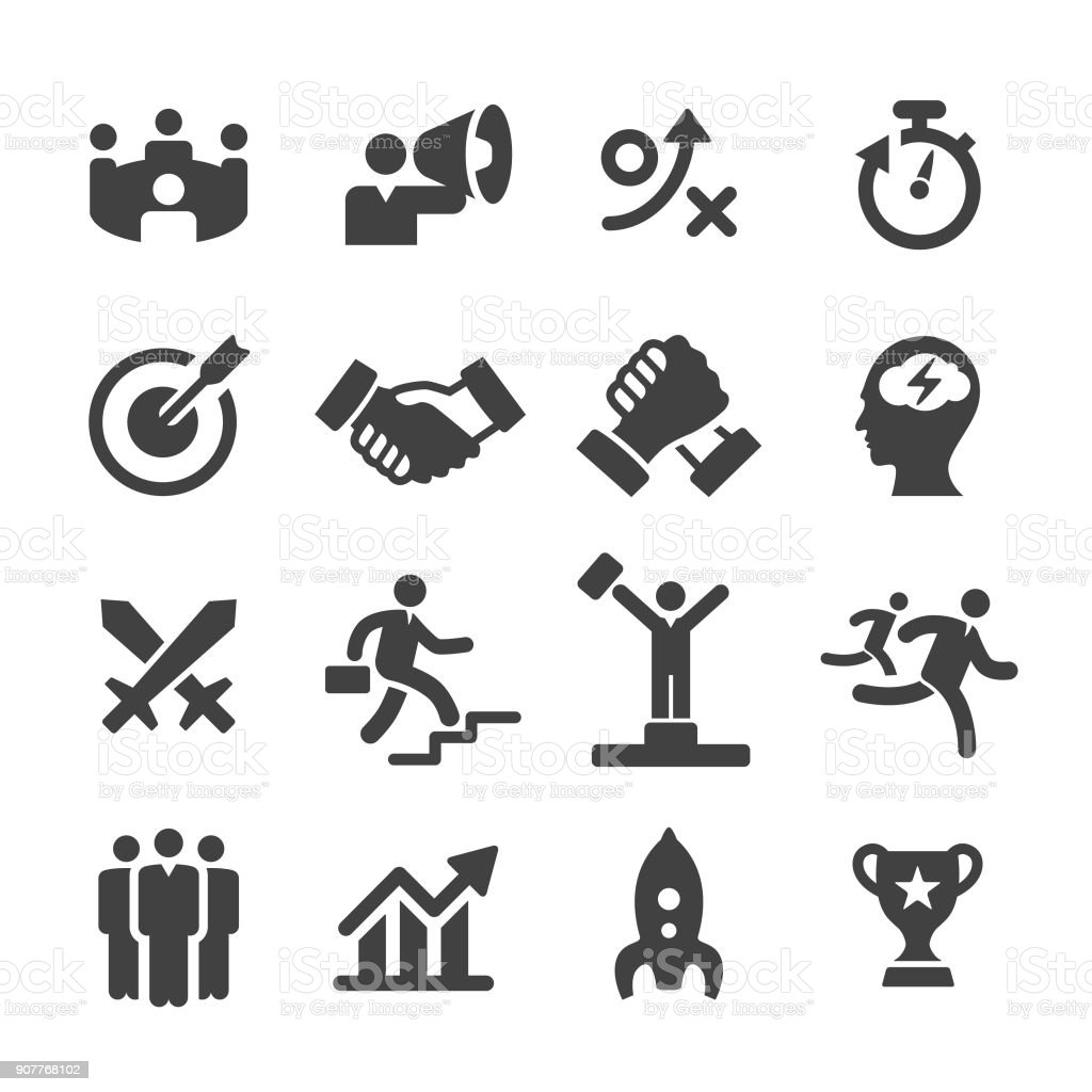 Business Competition Icons - Acme Series vector art illustration