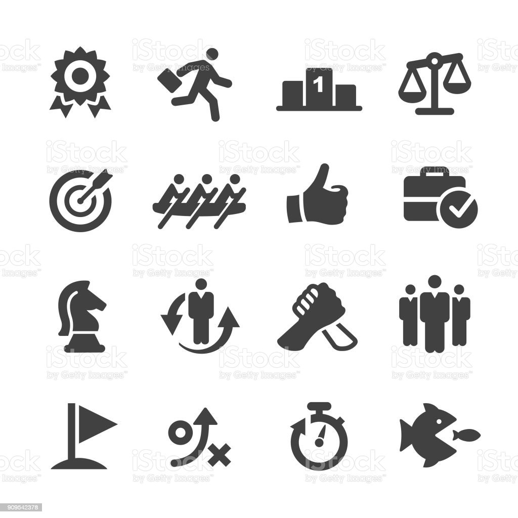 Business Competition Icons Set - Acme Series vector art illustration