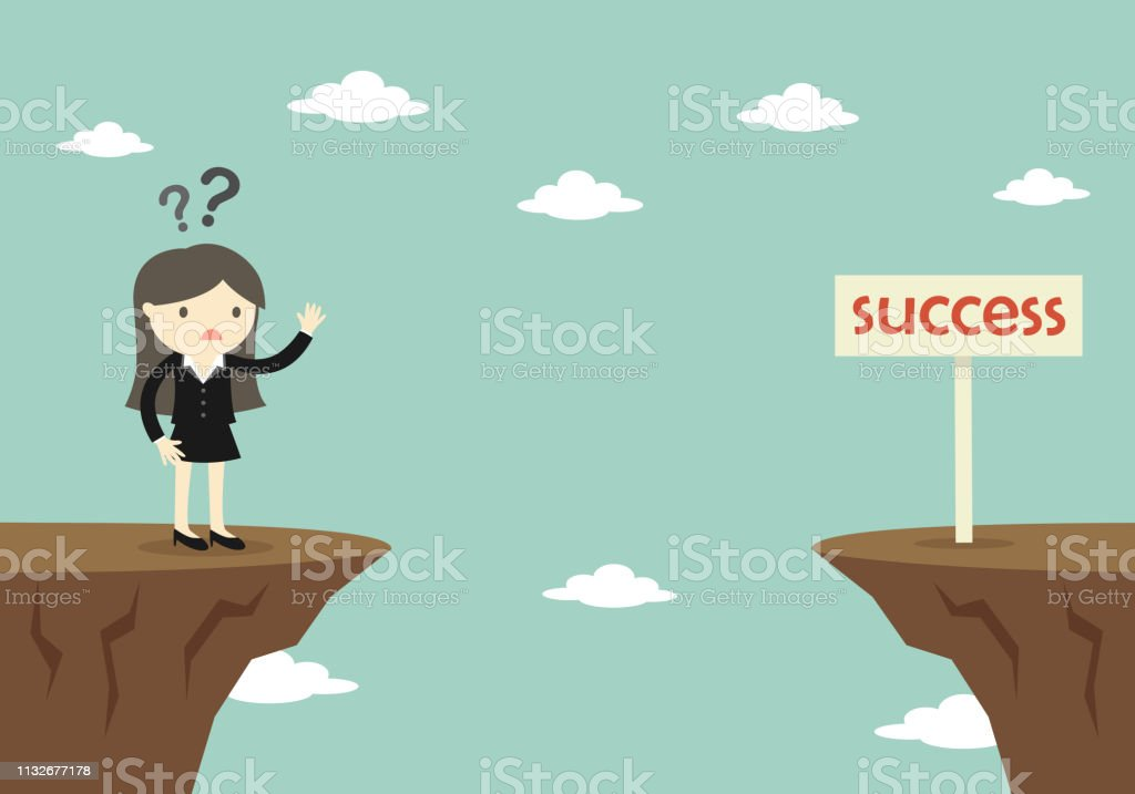 Business concept, Boss/Business woman doesn\'t know how to success....
