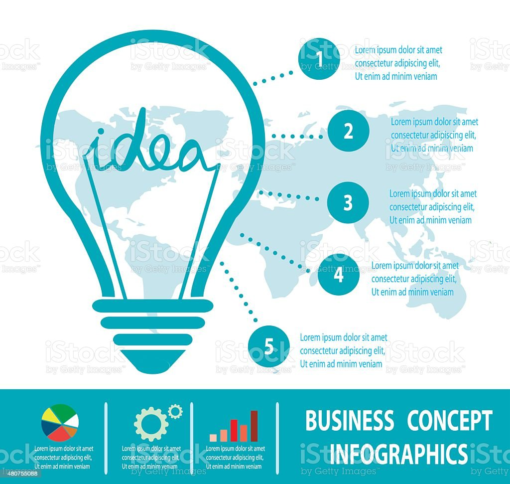 ビジネスコンセプトアイデア電球のコンセプト白背景ビジネスコンセプト