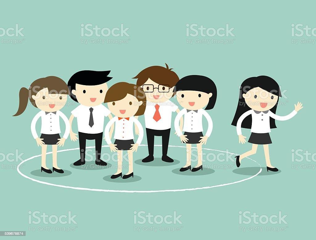 Concepto del negocio, mujer de negocios a pasos de la rotonda. ilustración de concepto del negocio mujer de negocios a pasos de la rotonda y más banco de imágenes de abstracto libre de derechos