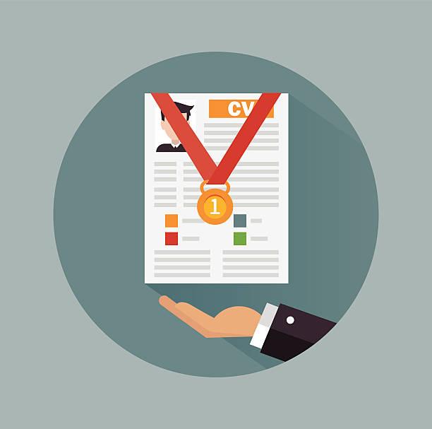 Business concept design with business cv resume vector art illustration