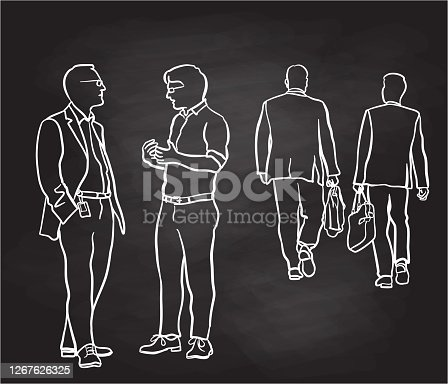 istock Business Concept Discussion Outdoor Chalkboard 1267626325