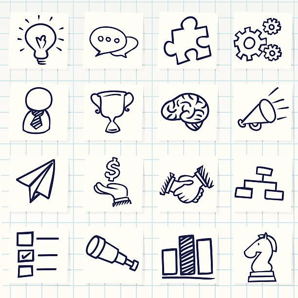 Ícone de conceito de negócio - ilustração de arte em vetor