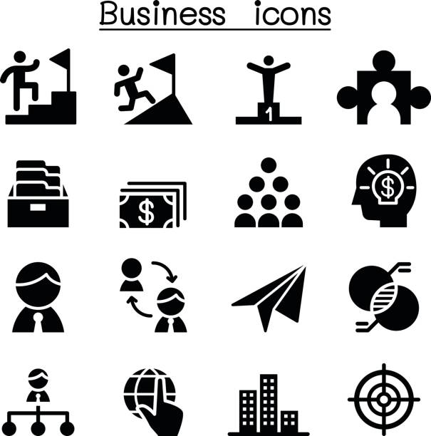 Business Concept icons Business Concept icons bonus march stock illustrations