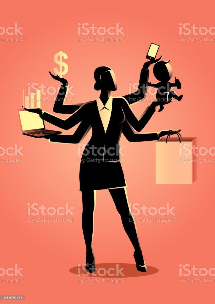 Illustration de concept de Business pour le multitâche - Illustration vectorielle