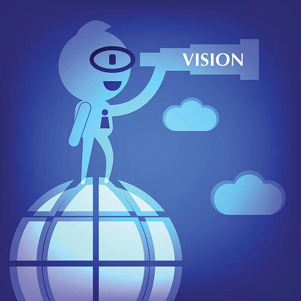 business-Konzept-illustration in Blau Hintergrund – Vektorgrafik
