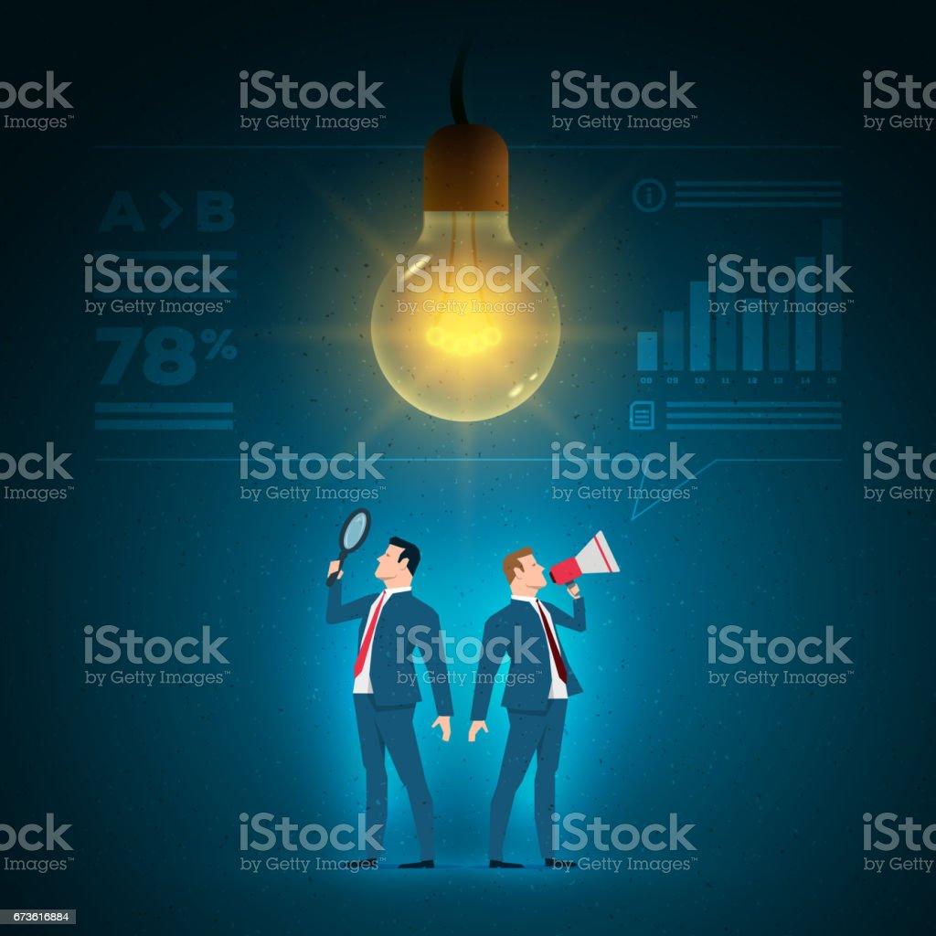 Business concept illustration. vector art illustration
