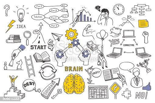 istock Business concept in doodle style 509616668