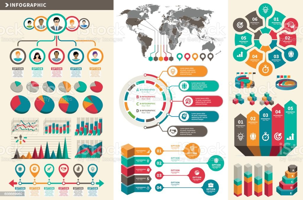 Business Concept Infographic Element vector art illustration