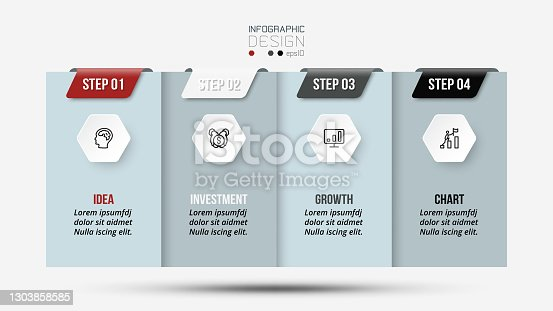 istock Business concept infographic template design. 1303858585