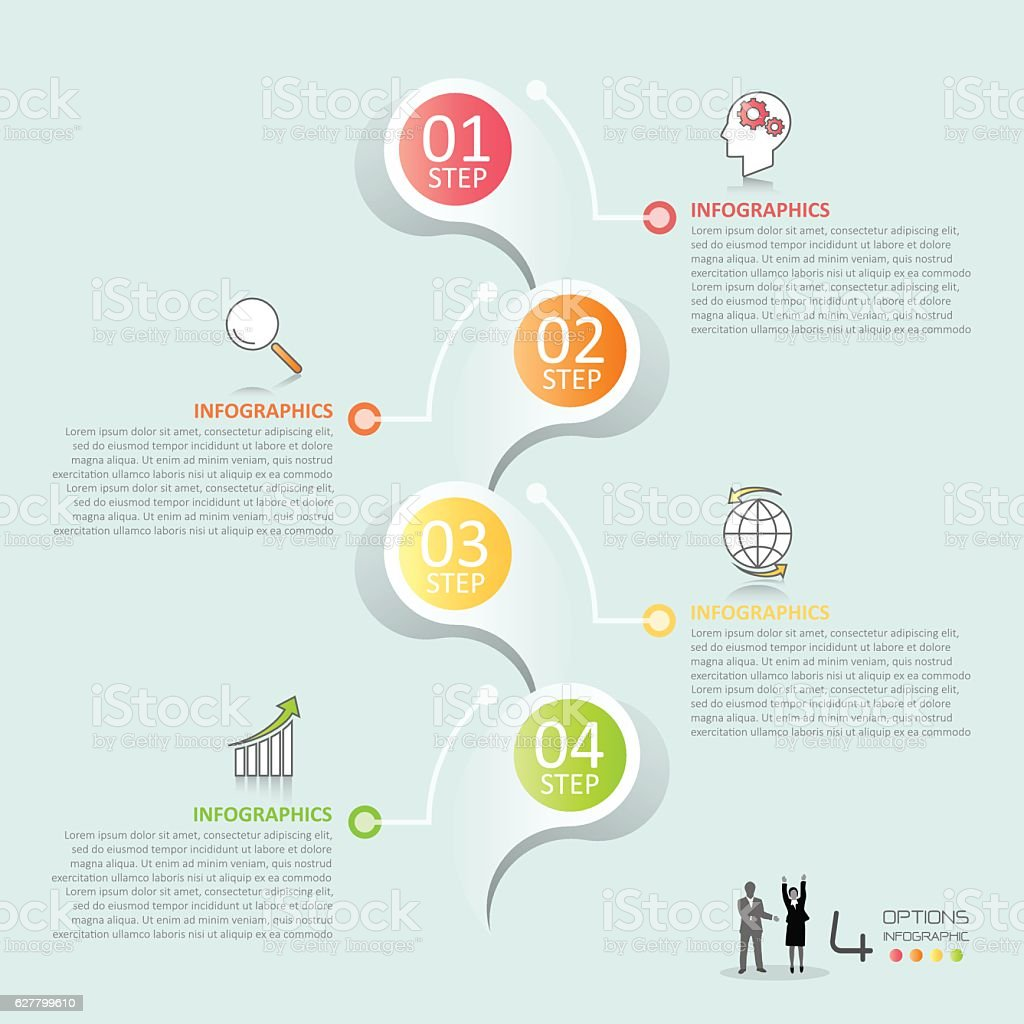 Business concept infographic template vector art illustration