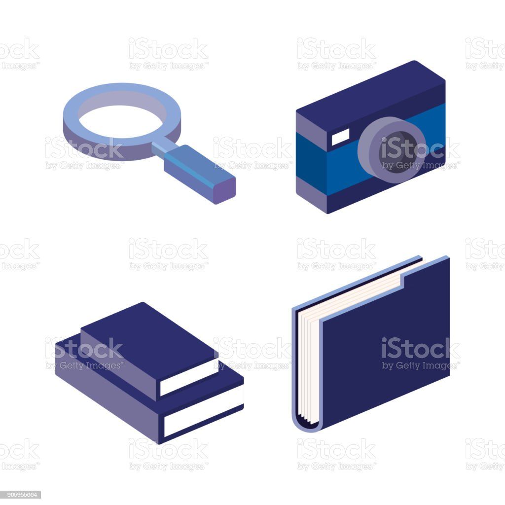 business concept isometric set icons - Royalty-free Book stock vector