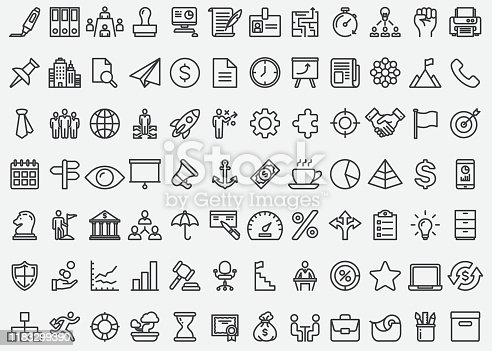Business Concept Line Icons