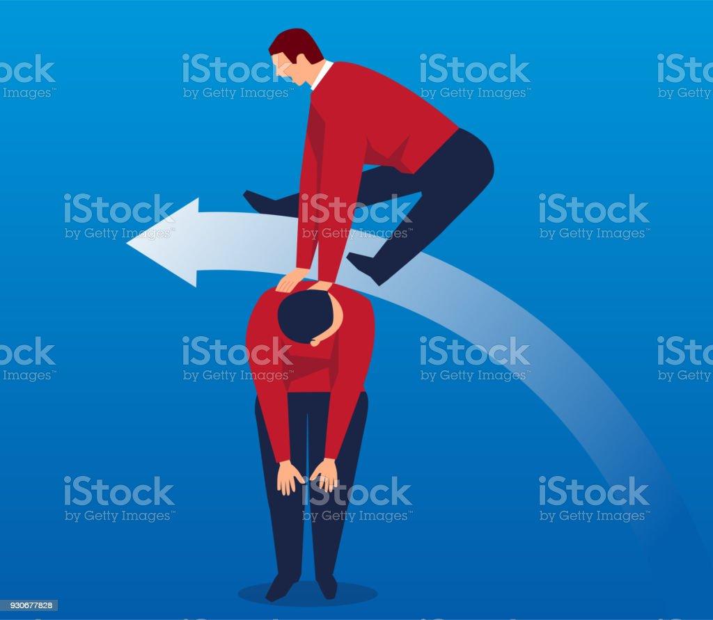 Business concept of team sports vector art illustration