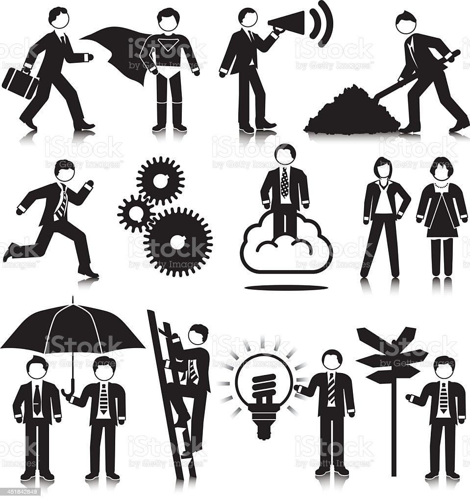 Business Concept Pictograms royalty-free stock vector art
