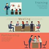 Business concept set