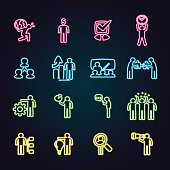 The vector files of business concept icon set.