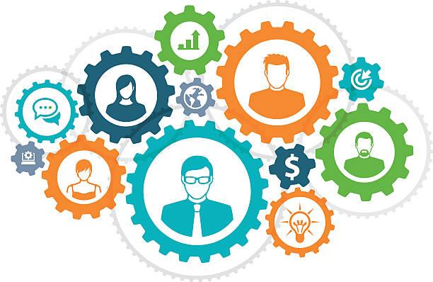 koncepcja biznesowa - oś czasu pomoc wizualna stock illustrations
