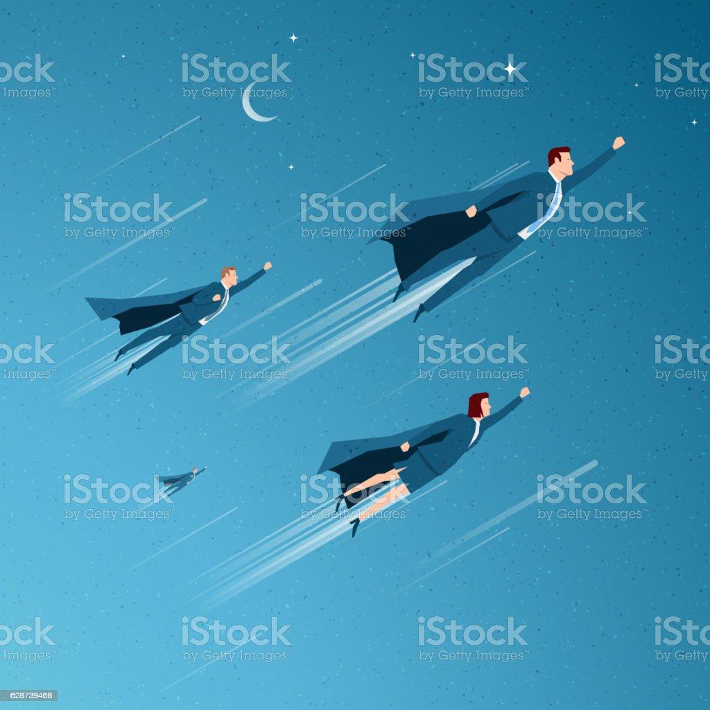 Conceito de negócios vetor ilustração - ilustração de arte em vetor