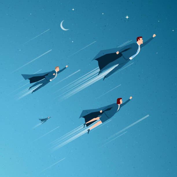 illustrations, cliparts, dessins animés et icônes de concept d'affaires vector illustration - voler