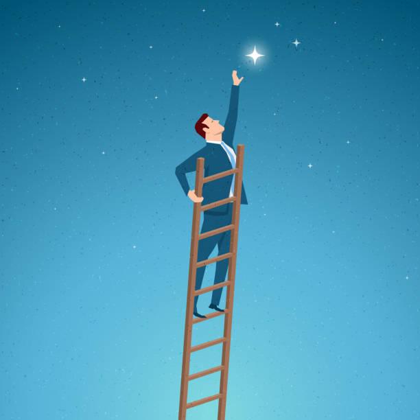 business concept vector illustration - optimistic 幅插畫檔、美工圖案、卡通及圖標