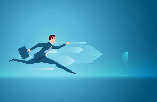 business konzept-vektor-illustration - langstreckenlauf stock-grafiken, -clipart, -cartoons und -symbole