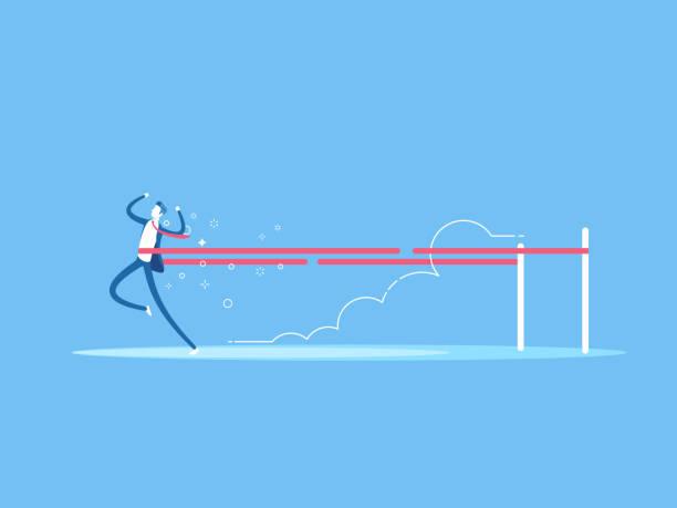 business concept winner - finish line stock illustrations, clip art, cartoons, & icons