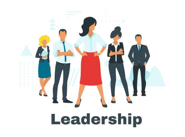 koncepcja biznesowa z sylwetkami ludzi - menadżer stock illustrations