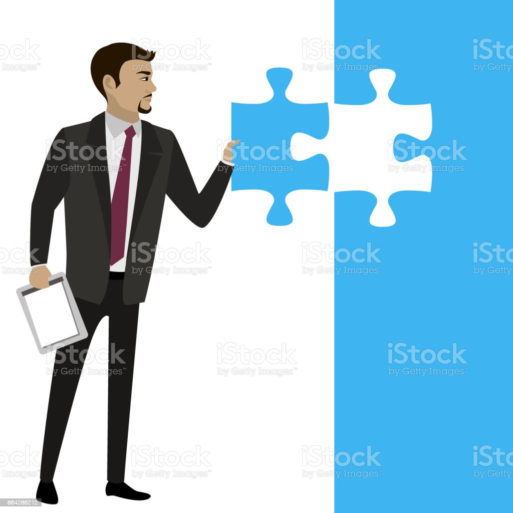 Business concept with piece of the puzzle. royalty-free business concept with piece of the puzzle stock vector art & more images of achievement