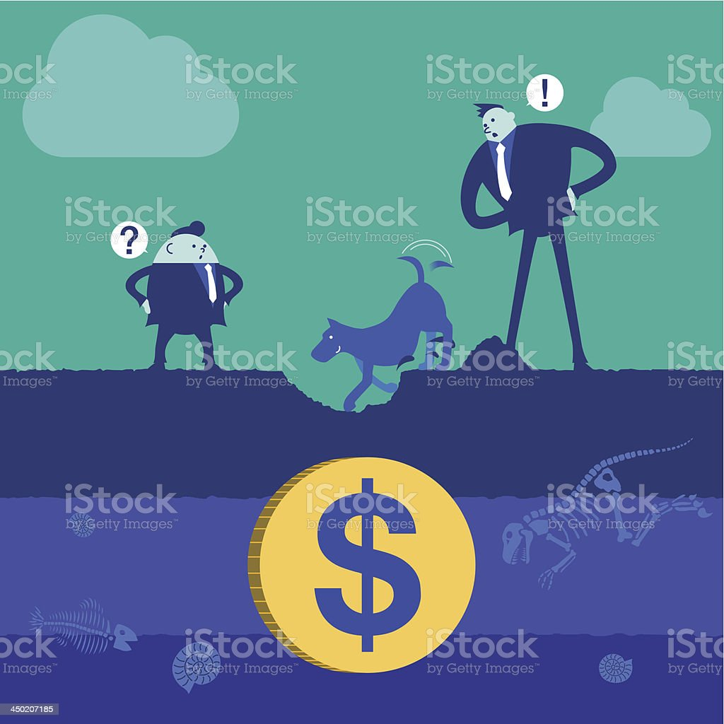 Business concept[Discovery] vector art illustration