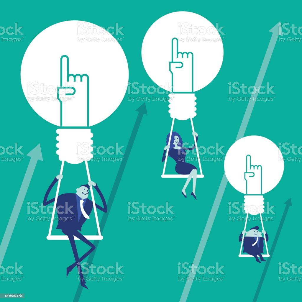 Business concept[Fly!] royalty-free stock vector art