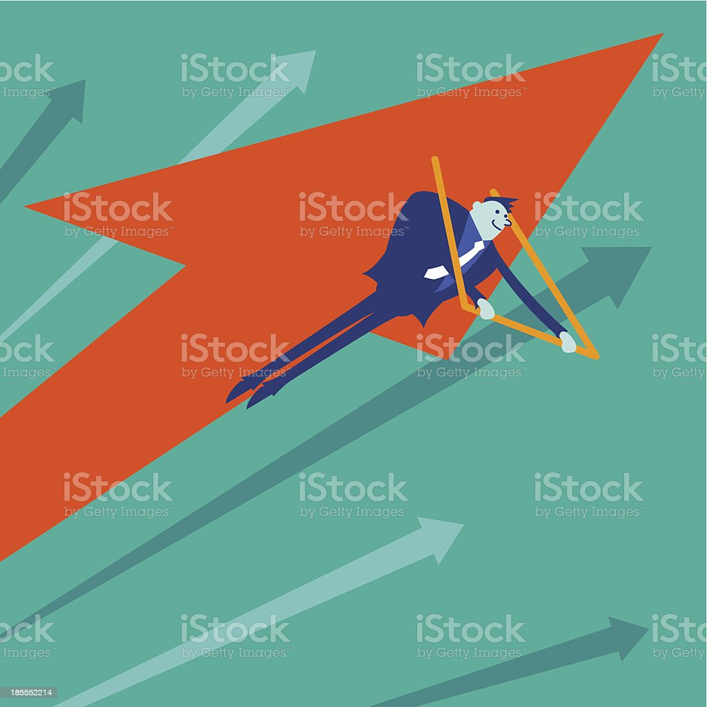 Business concept[Fly!] vector art illustration