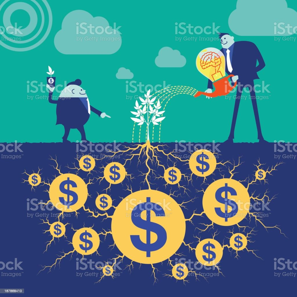 Business concept[Grow up!] royalty-free stock vector art