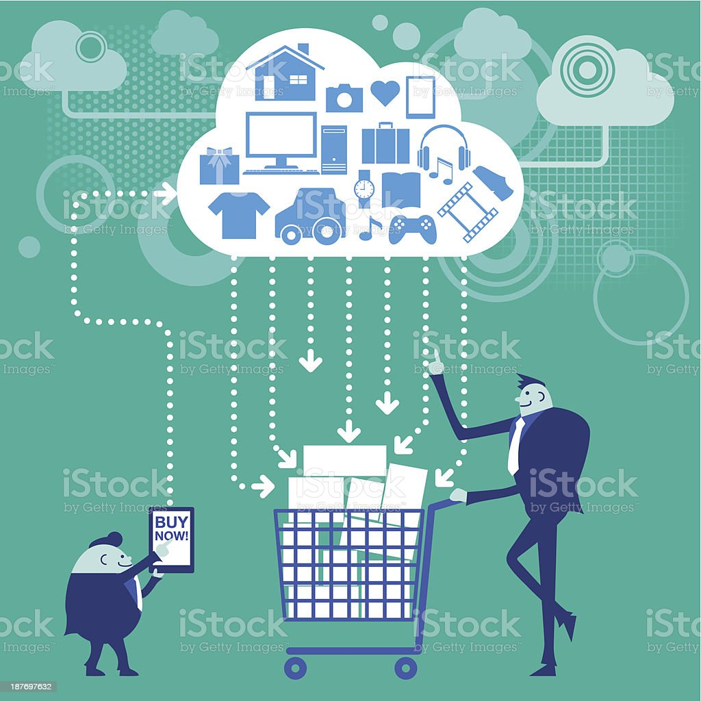 Business concept[Online shopping] royalty-free stock vector art