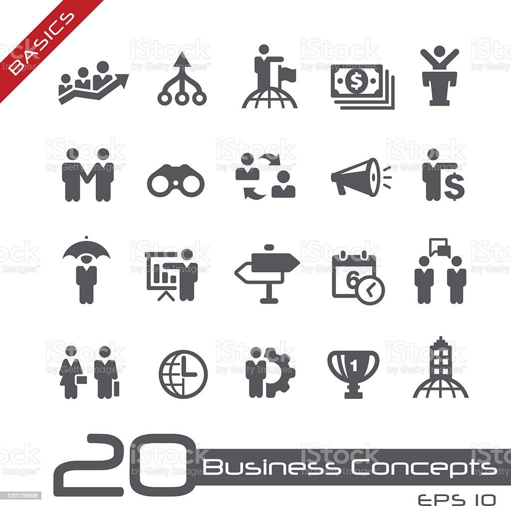 Business Concepts Icon Set - Basics vector art illustration