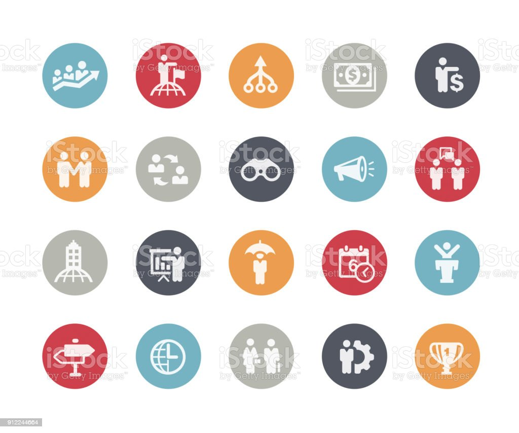 Business Concepts Icons // Classics vector art illustration