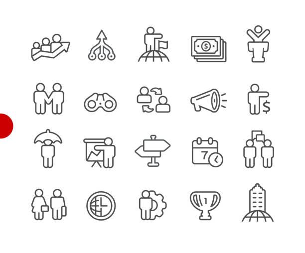 ビジネス概念のアイコン//レッド ポイント シリーズ - 金融と経済点のイラスト素材/クリップアート素材/マンガ素材/アイコン素材