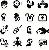 Business concepts icons set