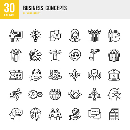 Business Concepts - set of line vector icons