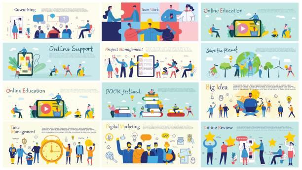 illustrazioni stock, clip art, cartoni animati e icone di tendenza di business concepts - young digital