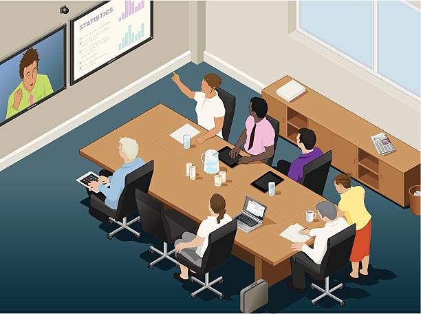 Best Video Conference Illustrations, Royalty-Free Vector ...