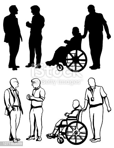 istock Business Conference Disability Assistance Silhouettes 1271469559