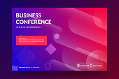 Business conference invitation concept. Modern colorful abstract geometric background. Template for banner,web page development, poster, flyer, magazine page. Vector eps 10.